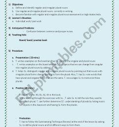 Lesson plan Grade 5 (regular and irregular plural nouns) - ESL worksheet by  Maysam 123 [ 1169 x 826 Pixel ]