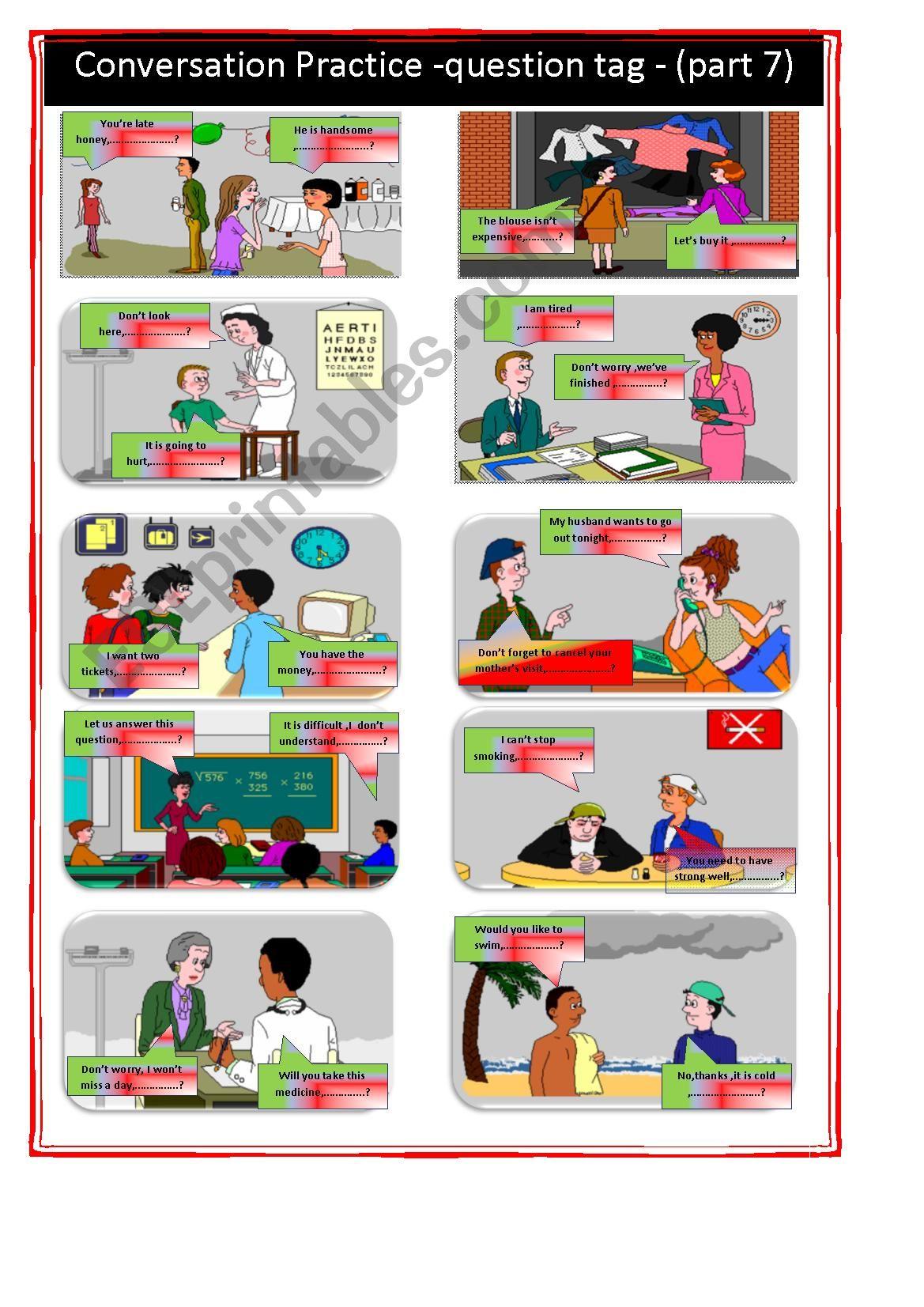 Conversation Practice Part 7 Question Tag Key