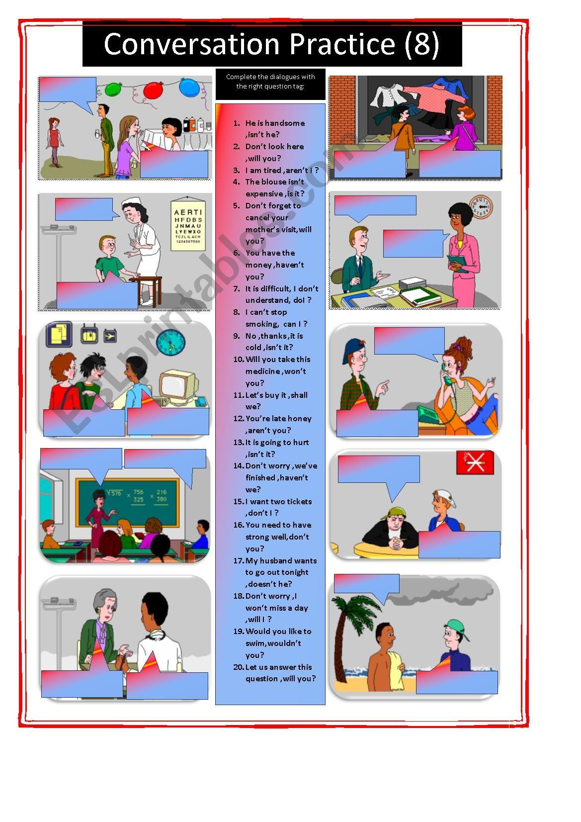 Conversation Practice Part 8 Question Tag