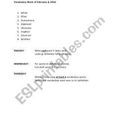 Vocabulary 3rd Grade - ESL worksheet by aakins9112 [ 1169 x 826 Pixel ]