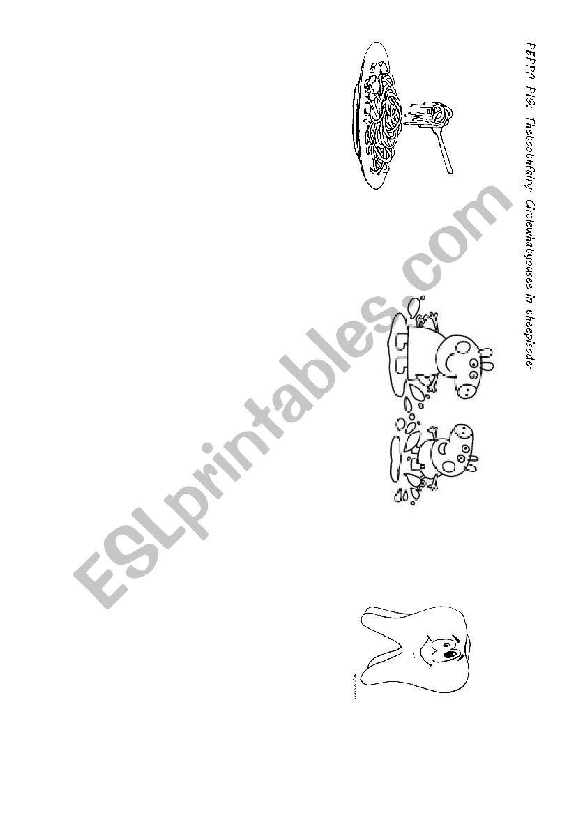 medium resolution of peppa pig tooth fairy worksheet