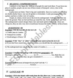 end of term test 2 grade 8 Tunisian programme - ESL worksheet by wafakharrat [ 1169 x 826 Pixel ]