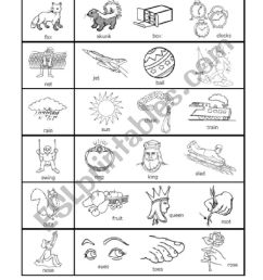 1-syllable Rhymes 1st grade - ESL worksheet by nwagdy [ 1169 x 826 Pixel ]