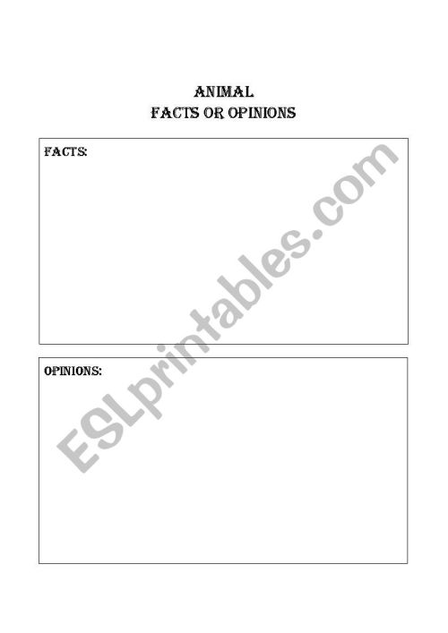 small resolution of Facts And Opinions Worksheet - Promotiontablecovers