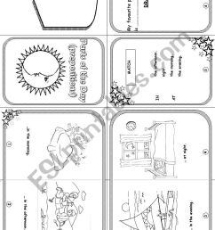 parts of the day mini book worksheet [ 826 x 1169 Pixel ]
