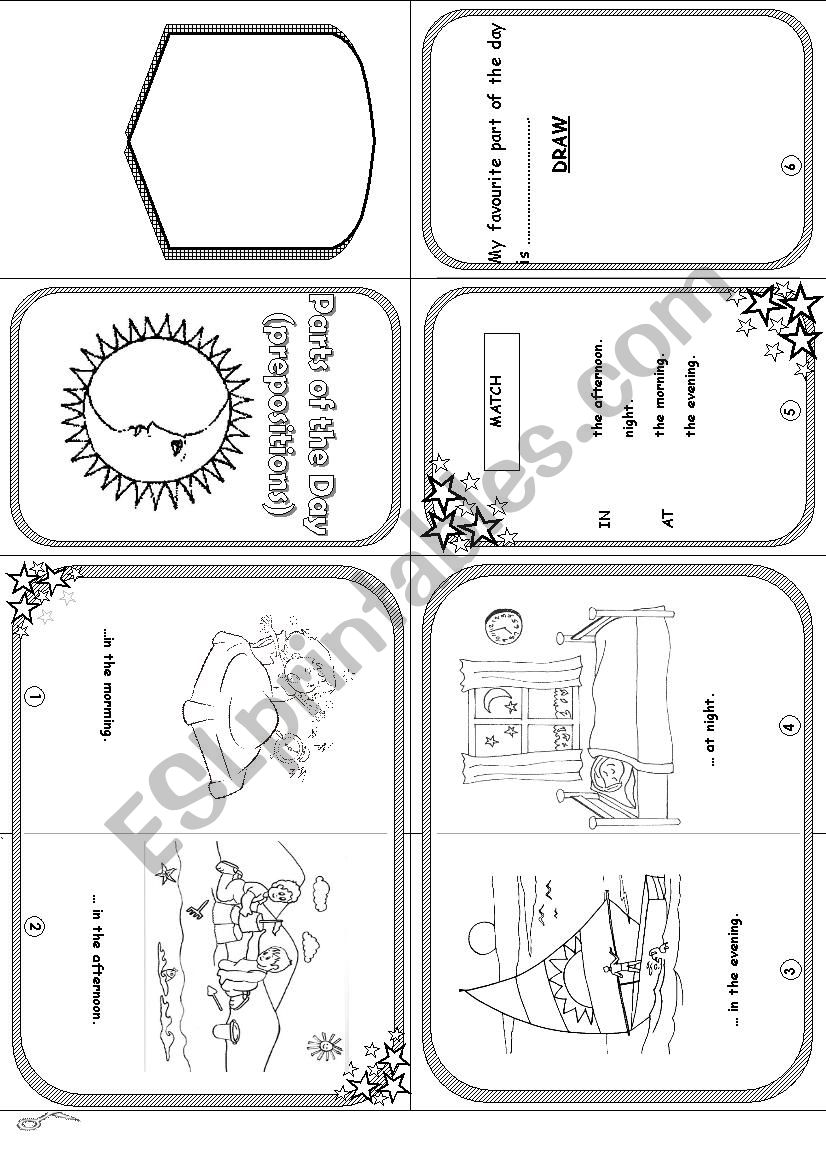 hight resolution of parts of the day mini book worksheet