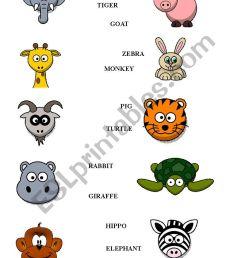 Animals worksheet - kids - ESL worksheet by Blanc1984 [ 1169 x 826 Pixel ]