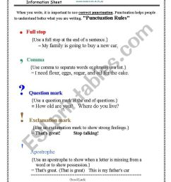 punctuation rules - ESL worksheet by fafauu [ 1169 x 821 Pixel ]