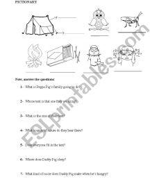 peppapig camping worksheet [ 826 x 1169 Pixel ]