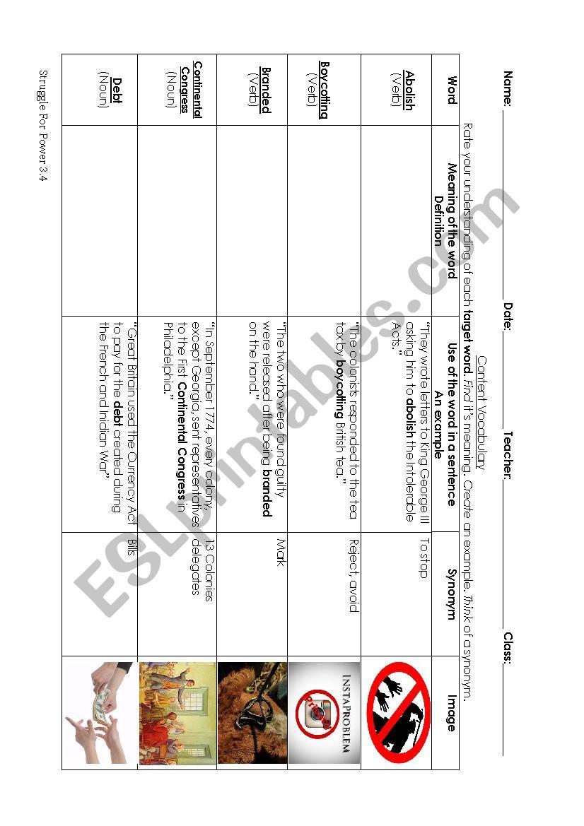 hight resolution of 7th grade Social Studies - ESL worksheet by justinaamiller