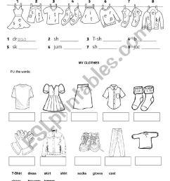 Clothes - ESL worksheet by Pombinha [ 1169 x 826 Pixel ]