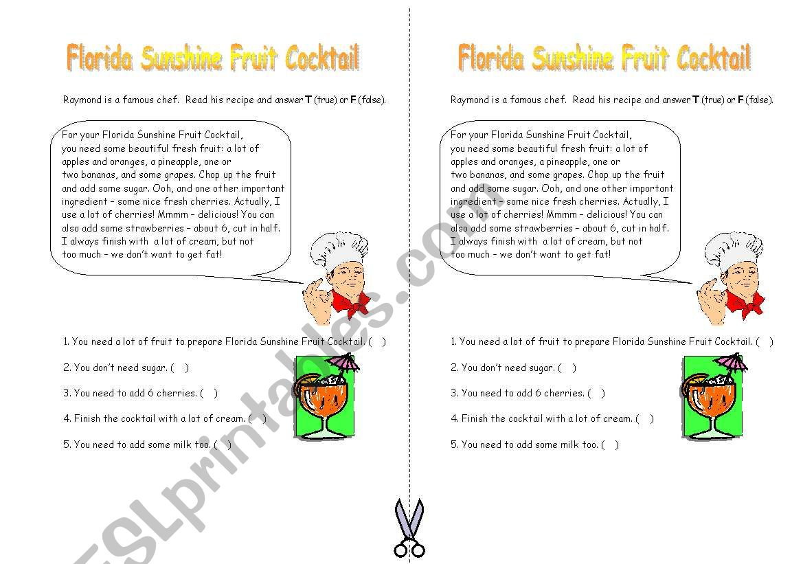 Florida Sunshine Fruit Cocktail
