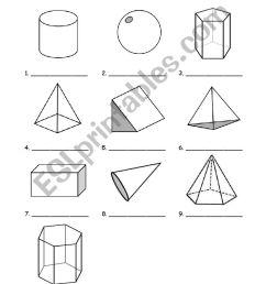 3D shapes - ESL worksheet by sirada54 [ 1400 x 850 Pixel ]