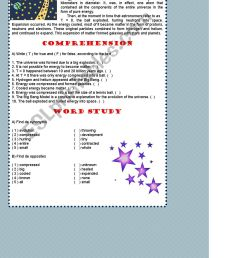 Big Bang Foldable Worksheets   Printable Worksheets and Activities for  Teachers [ 1653 x 1169 Pixel ]