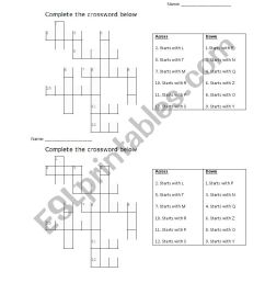1st-3rd Grade ESL Phonics Crossword Puzzle - ESL worksheet by shiori87 [ 1169 x 826 Pixel ]