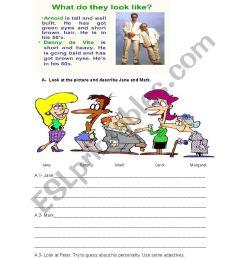 Describing people - ESL worksheet by Elbi [ 1169 x 826 Pixel ]