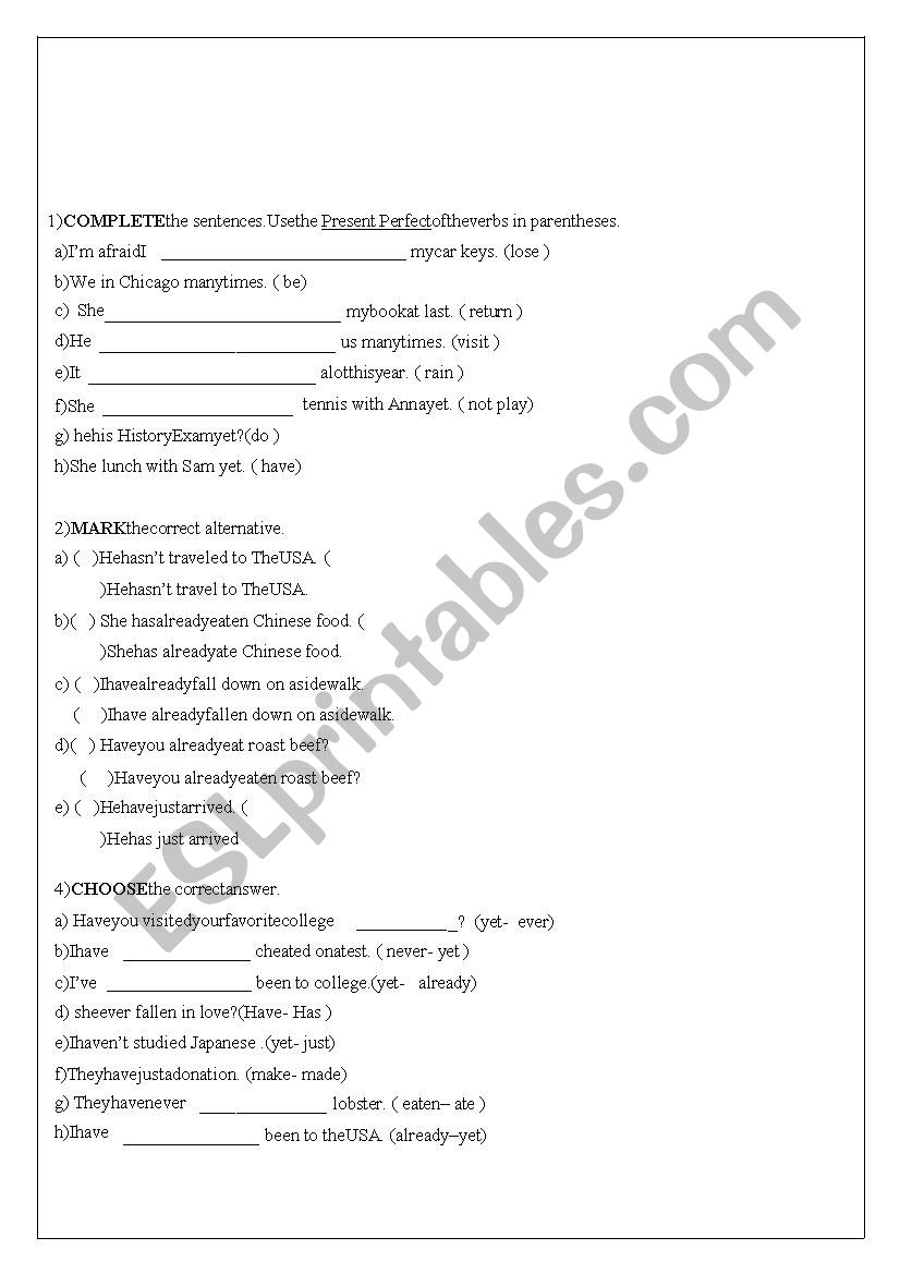 medium resolution of 9th grade test - 10 questions - ESL worksheet by Taismg