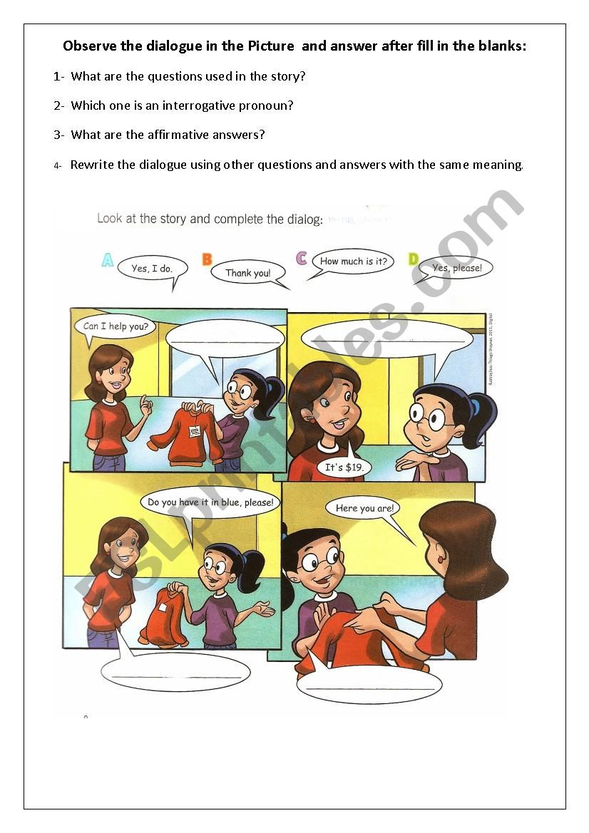 hight resolution of Prices and interrogative pronouns - ESL worksheet by Taismg