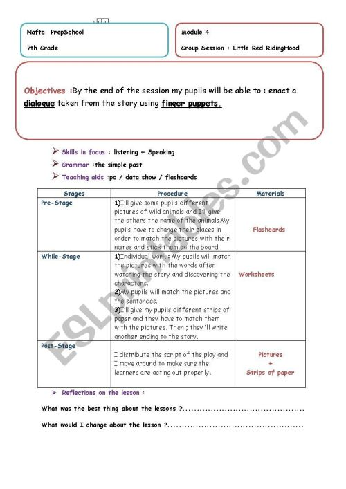 small resolution of little red riding hood - ESL worksheet by ines mat