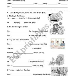 present simple tense and present continuous tense - ESL worksheet by  santita.ta [ 1169 x 826 Pixel ]