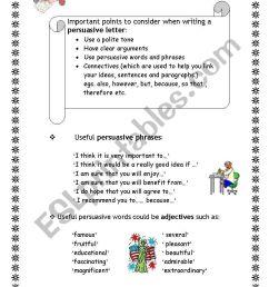 Persuasive Letter Worksheet - Letter [ 1169 x 821 Pixel ]