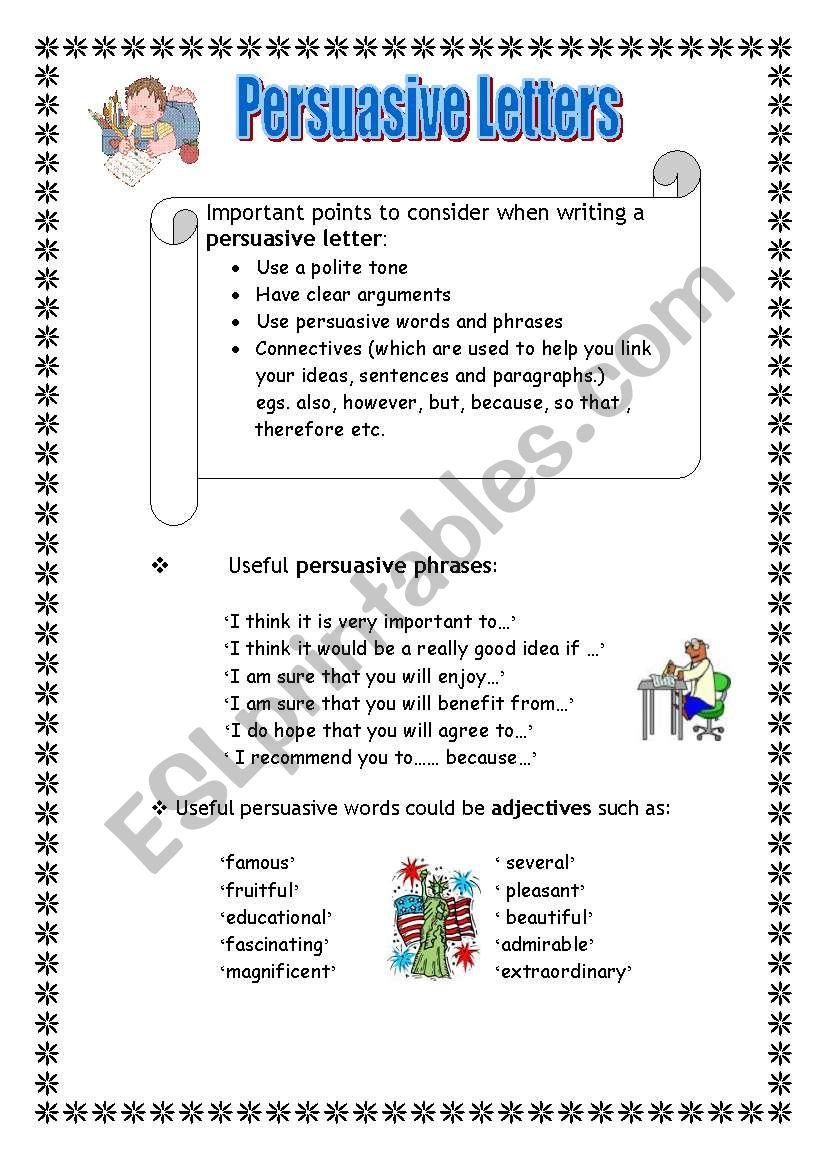 medium resolution of Persuasive Letter Worksheet - Letter