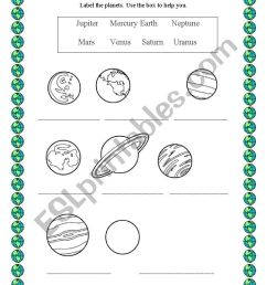32 Label The Planets Worksheet - Labels Database 2020 [ 1169 x 826 Pixel ]