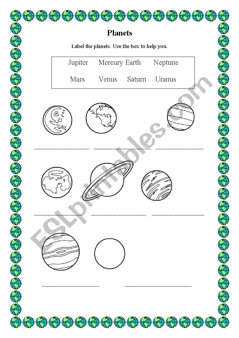 medium resolution of 32 Label The Planets Worksheet - Labels Database 2020