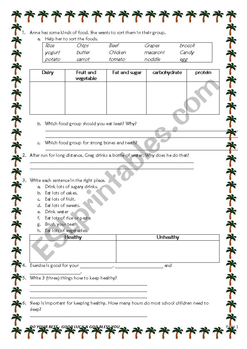 hight resolution of SCIENCE Healthy and Unhealthy food - ESL worksheet by suharyati