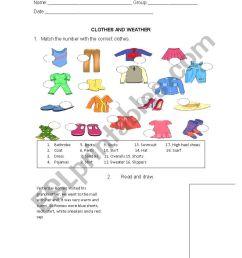 clothes - ESL worksheet by erika_07 [ 1169 x 826 Pixel ]