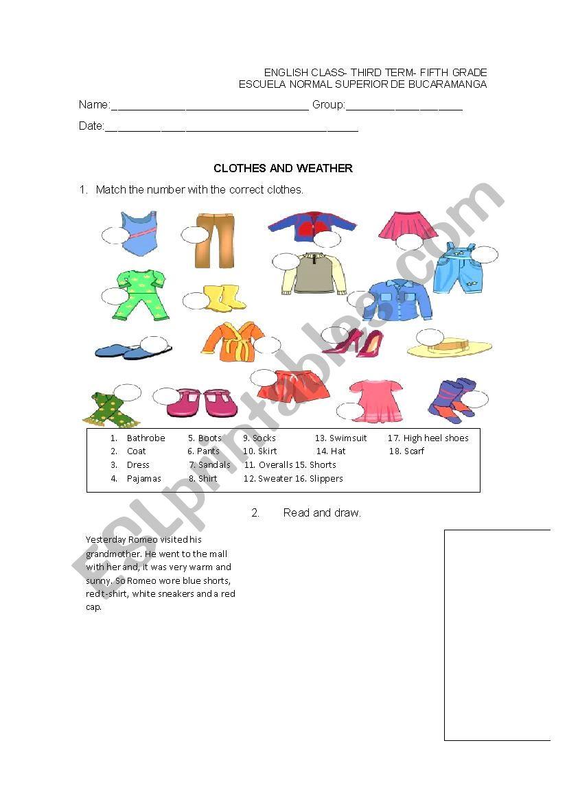 medium resolution of clothes - ESL worksheet by erika_07