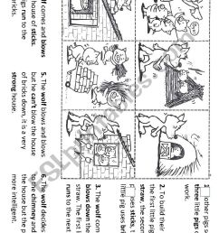 Sequencing the story of the three little pigs - ESL worksheet by  torrecillasss [ 1169 x 826 Pixel ]