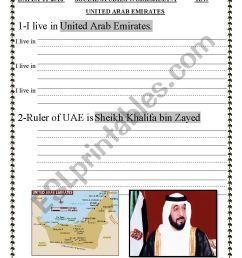 GRADE 1 \UAE SOCIAL STUDIES \ - ESL worksheet by sahar ammad [ 1169 x 826 Pixel ]
