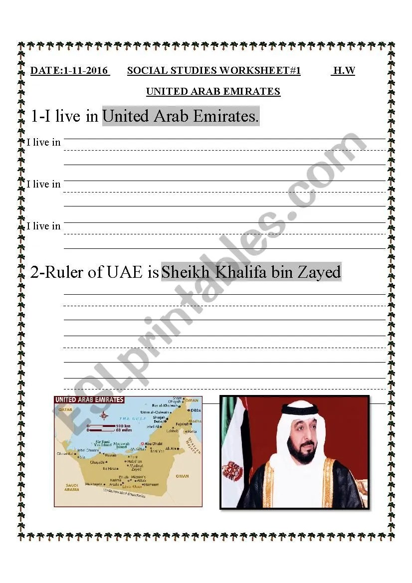 hight resolution of GRADE 1 \UAE SOCIAL STUDIES \ - ESL worksheet by sahar ammad