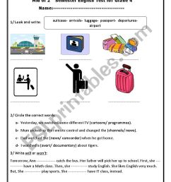 2nd term- exam for grade 4 elementary - ESL worksheet by EA17BR06 [ 1169 x 826 Pixel ]