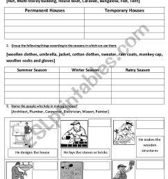 Housing And Clothing - ESL worksheet by vighnajith [ 1169 x 826 Pixel ]