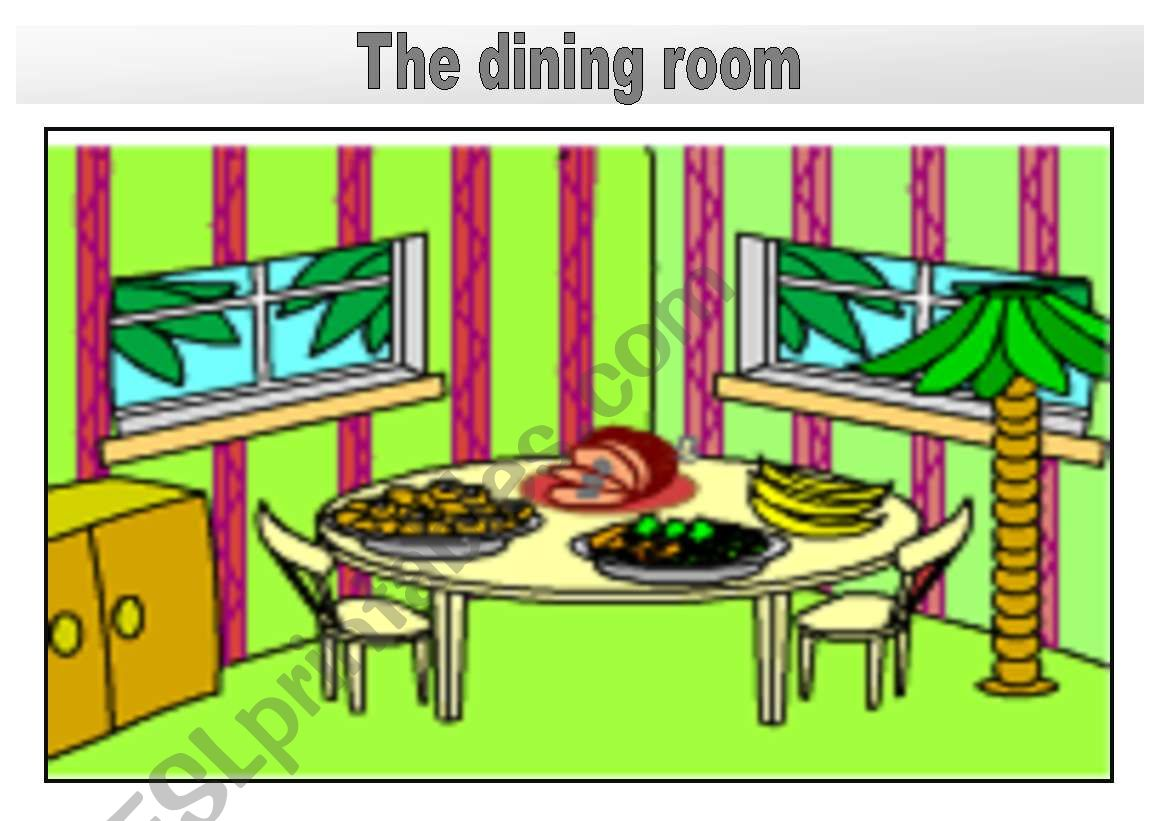Rooms In The House Flashcards The Dining Room