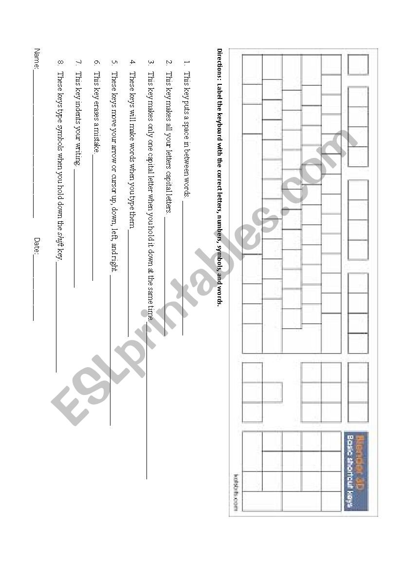 hight resolution of computer skills keyboard template