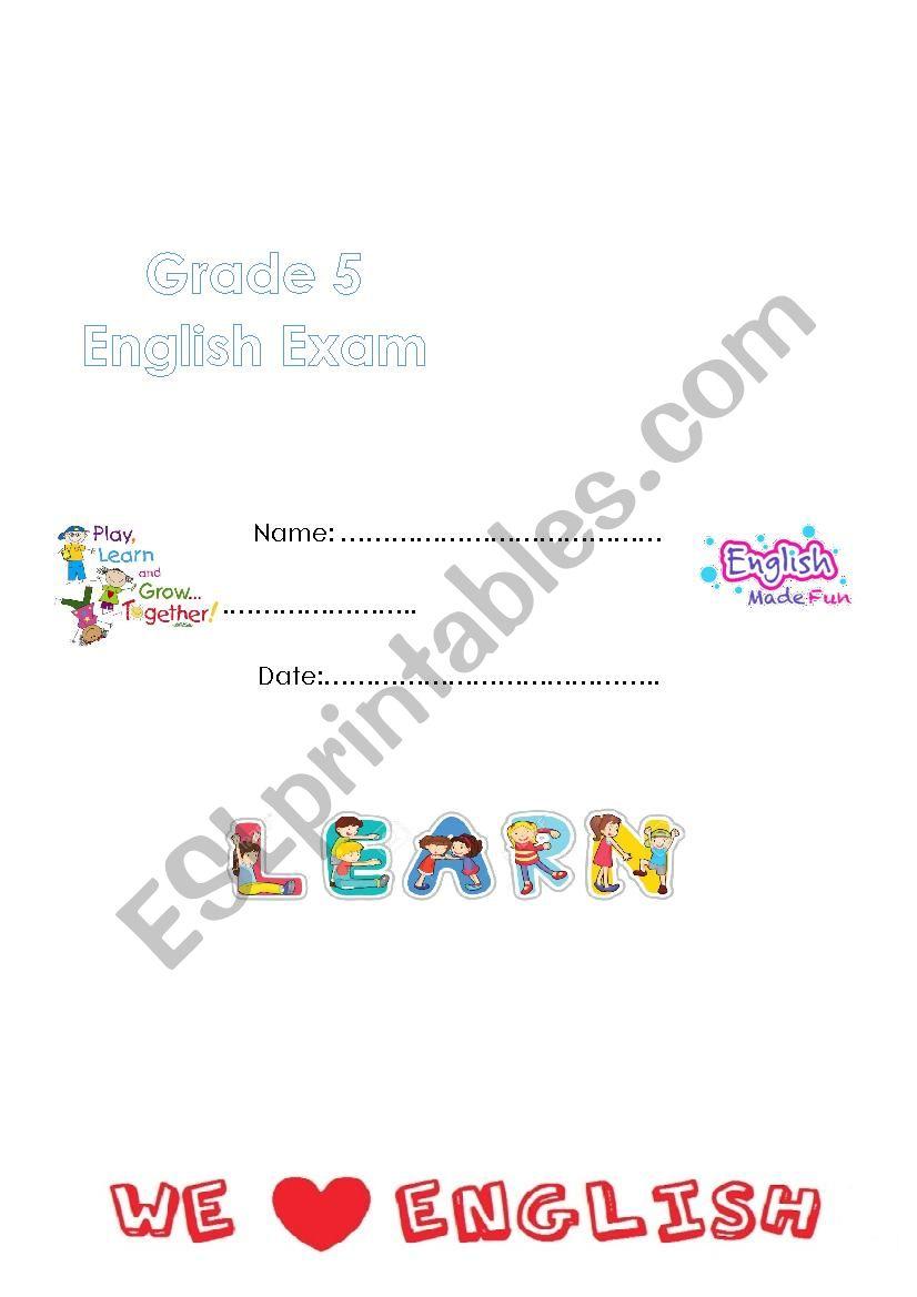 hight resolution of way ahead 5 -exam - ESL worksheet by marahyounis