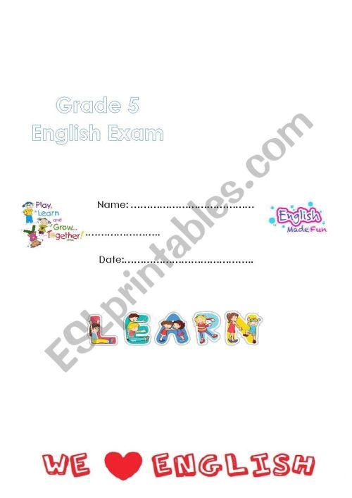 small resolution of way ahead 5 -exam - ESL worksheet by marahyounis