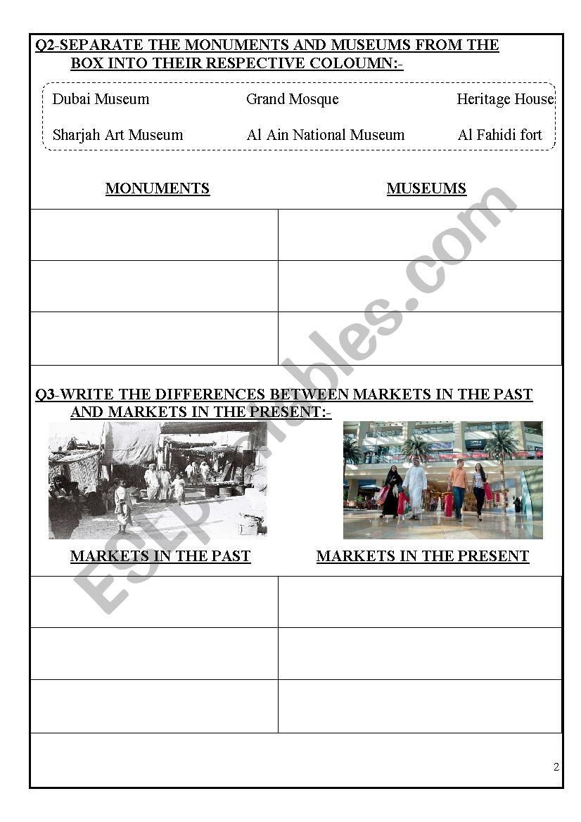 medium resolution of UAE SOCIAL STUDIES - ESL worksheet by sahar ammad
