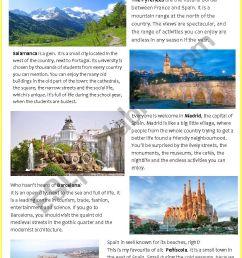 HOLIDAY DESTINATIONS: SPAIN - ESL worksheet by pilarmham [ 1169 x 826 Pixel ]