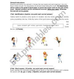 TEST SPORTS EIGHTH GRADE - ESL worksheet by Rake07 [ 1169 x 826 Pixel ]
