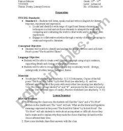 Robert Frost \The Road Not Taken\ Lesson Plan and Worksheets - ESL worksheet  by I \u003c3 ESL [ 1169 x 821 Pixel ]