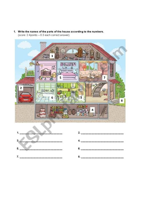 small resolution of 8th grade test - ESL worksheet by CCCF