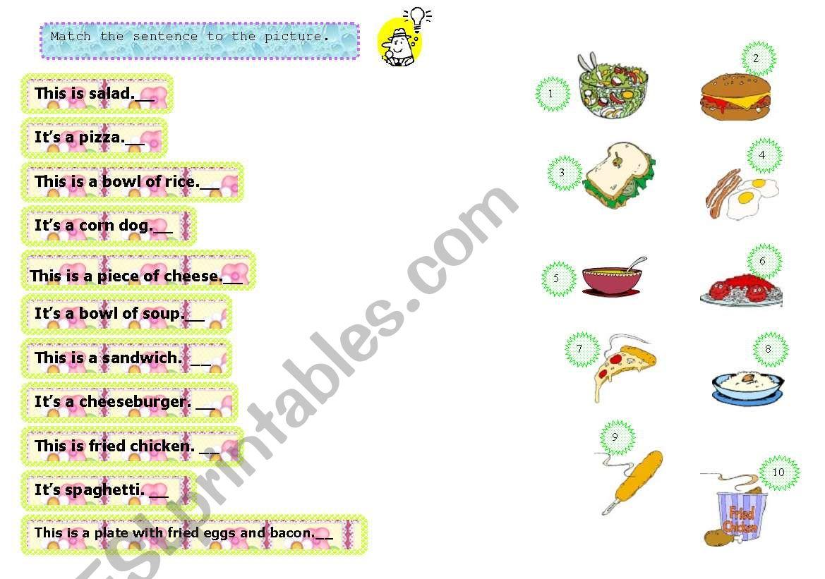 Matching Food Vocabulary 3 14 08 08