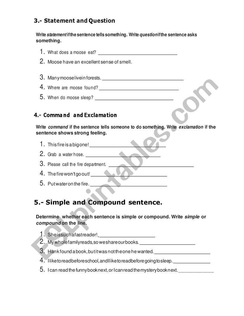 medium resolution of Moose English 4th Grade