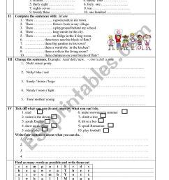 test 3rd grade - ESL worksheet by gabriela23 [ 1161 x 821 Pixel ]
