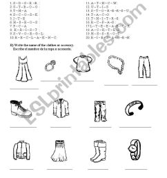 clothes and accesories - ESL worksheet by linkka [ 1389 x 838 Pixel ]