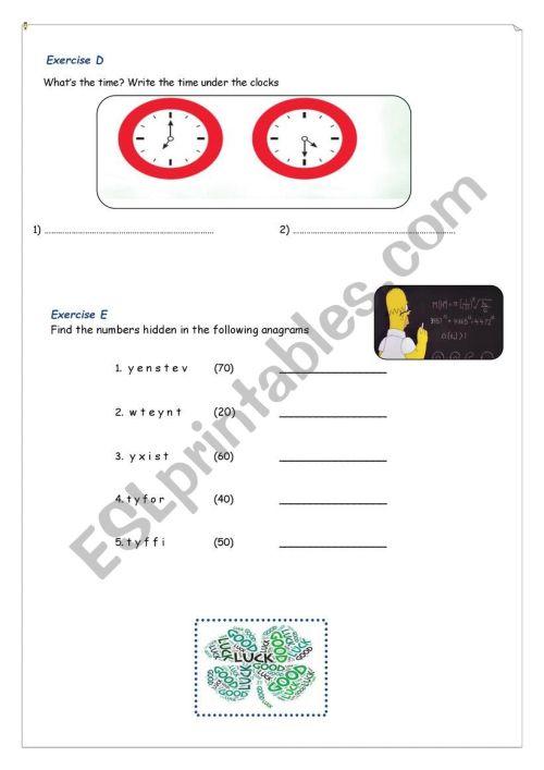 small resolution of Test-4th grade - ESL worksheet by maroemma